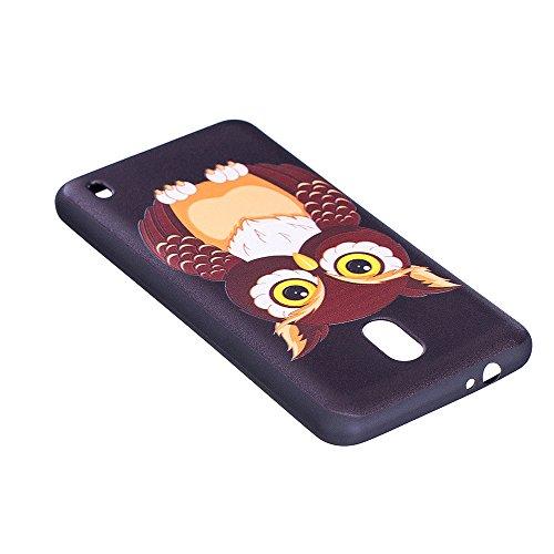 Grandcaser Funda para Nokia 2,Ultra Fina Slim Flexible Duradera Protectora Funda Estuche de Silicona TPU Gel Original Goma Grip Bumper Design Carcasa - Bamboo Panda Precioso búho