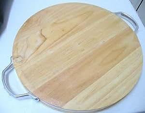 Amazon Com Cuisinart 15 Inch Round Wood Cutting Board