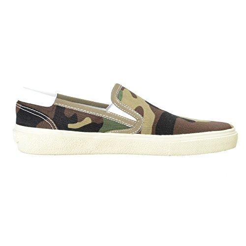 Saint Laurent Mocasines De Lona Y Cuero De Mujer Mocasines Zapatos Us 9 It 39