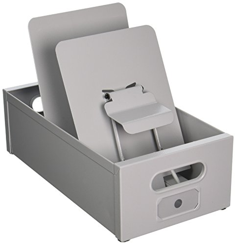 Master 11303 Card-Matic Steel Posting Tray, Gray; Accepts Forms Sizes 5.5 x 8.5 and 6 x 9 inches (Steel Posting Tub)