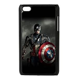 TOSOUL Phone Case Captain America,Customized Case For Ipod Touch 4