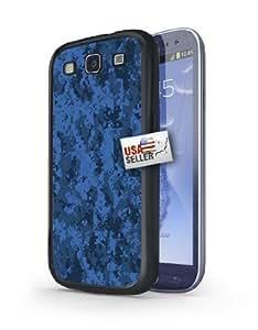 Blue Digital Pixel Camo Art Hard Case for Samsung Galaxy S3