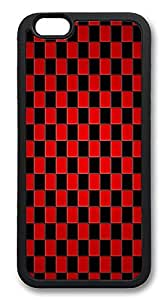 ACESR Checker Customize iPhone 6 Case TPU Back Cover Case for Apple iPhone 6 4.7inch Black