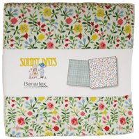 "Bright Days Charm Pack; 42 - 5"" Precut Fabric Quilt Squares by Benartex"
