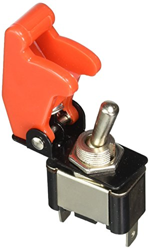 Keep It Clean 10929 Toggle Switch Race Toggle Switch With Safety Cover - Red