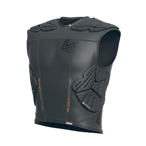 Shock Doctor Shockskin 5-Pad Sleeveless Impact Shirt (Grey, Men's XX-Large) ()