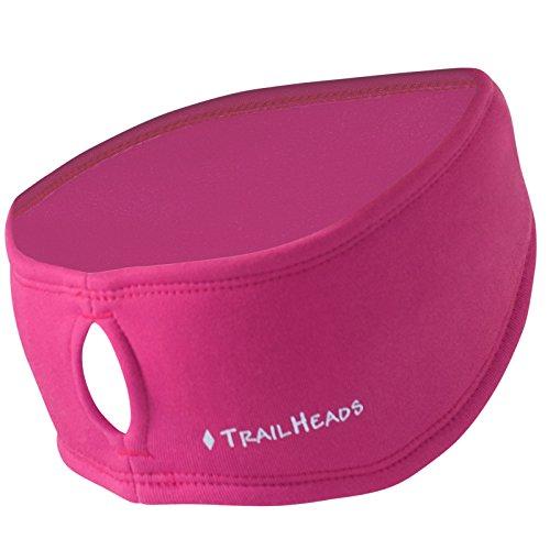 TrailHeads Women's Ponytail Headband | Moisture Wicking Ear Band | The Power Running Headband - Berry