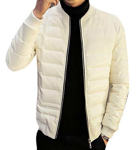 Vintage White Leather Jacket - 3