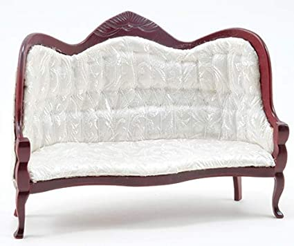 new Dollhouse Miniature Victorian couch sofa wood frame  1:12 Set  5 inches