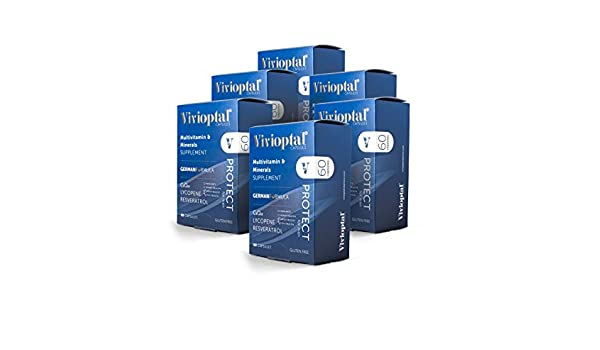 Amazon.com: Vivioptal Protect for Men 1 Year Supply - Multivitamin & Multimineral Supplement - CoQ10 & Resveratrol: Health & Personal Care
