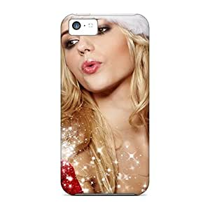 High Quality Shock Absorbing Case For Iphone 5c-christmas Girl by icecream design