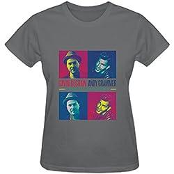 TooWest Gavin DeGraw Andy Grammer 2016 Tour Crewneck T-Shirt for Women Grey