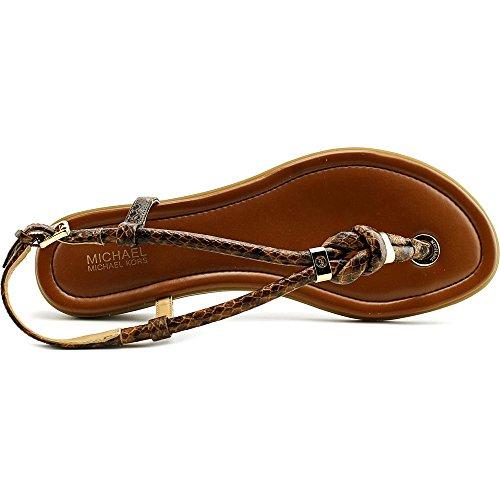 MICHAEL Michael Kors Holly Flatform - Zapatos de vestir de Piel para mujer Luggage Taglia scarpa