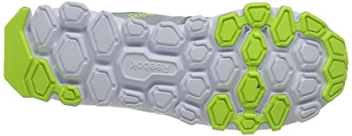 Reebok Women's Hexaffect Running Shoe Matte Silver/Denim Glow/Solar Yellow/White cW5Oqt1