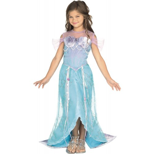 [Deluxe Mermaid Costume - Medium] (Ariel Blue Dress Costumes)