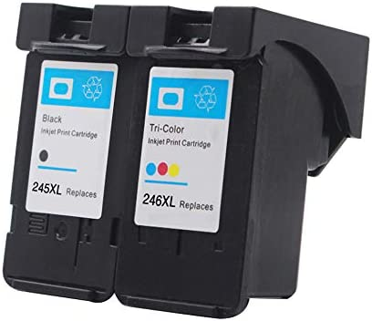 1 Black, 1 Color ZET Remanufactured Ink Cartridge Replacement for Canon 245XL 246XL PG-245XL CL-246XL Used in PIXMA MX492 MX490 MG2520 MG2522 MG2525 MG2920 MG2922 MG2924 MG3022 Printers