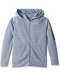 Reebok Boys Sporty Double Knit Zip-up Hooded Jacket