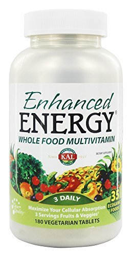 Kal - Enhanced Energy Whole Food MultiVitamin - 180 Vegetarian Tablets by Kal by Kal
