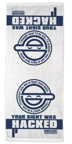 Ghost in the Shell Stand Alone Complex the Laughing Man Face Towel by Cospa
