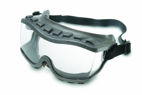 Lens Gray Body - Uvex S3815 Strategy Safety Goggles, Gray Body, Clear Uvextra Anti-Fog Lens, Indirect Vent With Foam, Fabric Headband