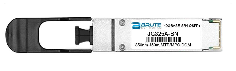 40GBASE-SR4 150m MMF 850nm QSFP Brute Networks JG325A-BN Transceiver Compatible with OEM PN# JG325A