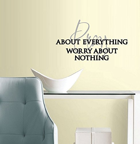 Pray about everything, worry about nothing ~: Wall or Window Decal 13″ x 23″