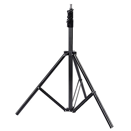Hakutatz 6.6ft/79inch/200cm Professional Photography Studio Tripod Light Stand Flash Speedlight Umbrella Stand for Video,Portrait,Softboxes,Reflectors,Photography Lighting(Min Tube Diameter: 21mm) by Hakutatz