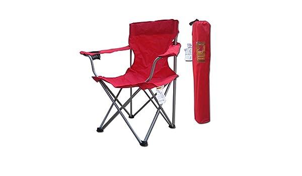 Folding chair Health UK Silla Plegable Summer Black Cool Hiking Portátil Ocio Beach Sketch Respaldo Silla Mazar Silla de Pesca Welcome (Color : Rojo): Amazon.es: Hogar