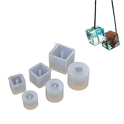 Round//Square Bead Mold Mould with Hanging Hole Tool For Jewelry Pendan