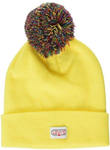 73 Risvolto pom Invernale Giallo Berretto Con Beanie yellow Cuffia Pompon Levi´s Rainbow InwSPYqxI8