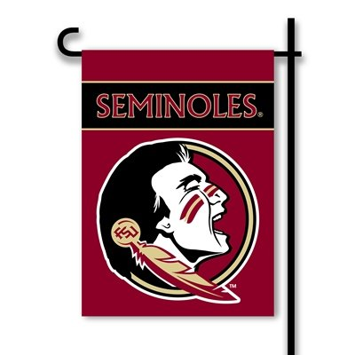 Florida State Seminoles NEW LOGO 2-sided Garden Flag Banner FSU University