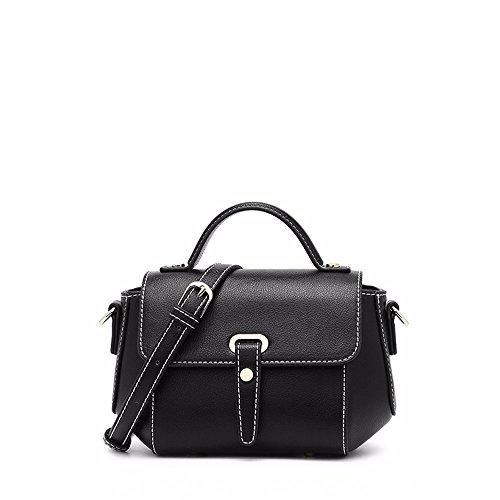 2018 nueva dama ala moda bolso de hombro, bolso, bolso del mensajero,Black Black