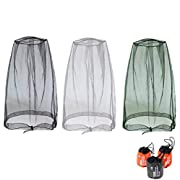 GCOA 3 Pack Head Net Mesh, Face Mesh Mask Cover for Outdoor Lovers Protect from Mosquito Insect Bug Bee Gnats + Free…