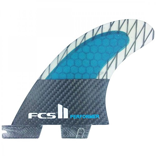 FCS II Performer Performance Core Carbon Surfboard Tri Fin Set - Extra Large