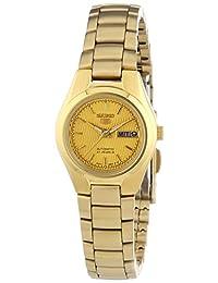 Seiko Women's SYMC18 Seiko 5 Automatic Gold Dial Gold-Tone Stainless Steel Watch
