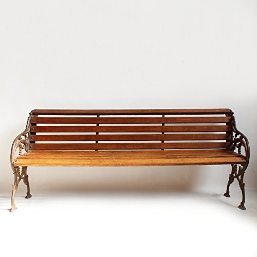 Cast Iron Teak Park Bench Outdoor Benches Patio And Furniture