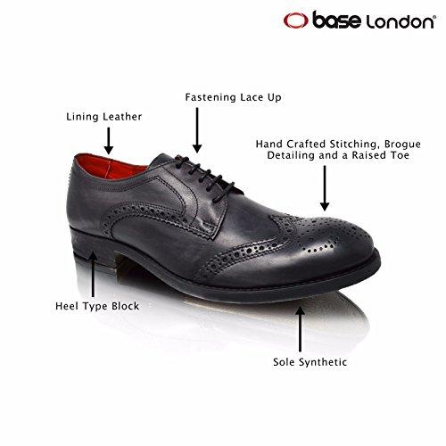 Base London ,  Herren Brogues Washed Grey