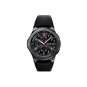 Samsung Gear S3 Frontier – Smartwatch Tizen (pantalla 1.3″ Super AMOLED 360×360, GPS integrado, batería 380 mAh, altavoz integrado), color Gris (Space Gray)- Version española 41iPUejuZdL