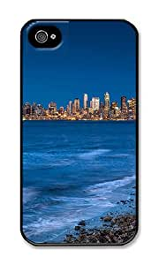 iPhone 4 Case,iPhone 4S Case,VUTTOO Stylish Seattle From The Beach Hard Case For Apple iPhone 4/4S - PC Black
