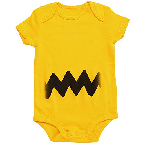 Linus And Sally Halloween Costumes (Charlie Brown I Am Charlie Baby Romper Bodysuit (12-18)