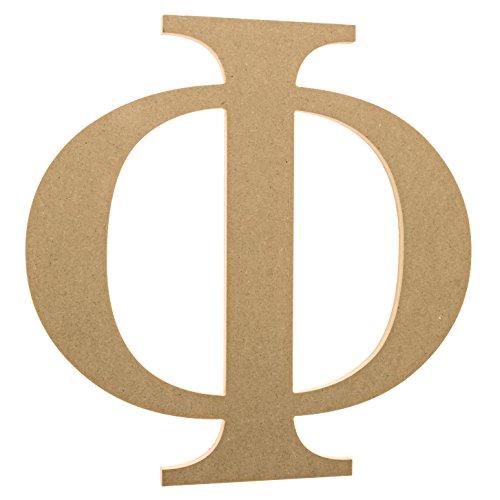 12  Wooden Greek Letter Phi   Fraternity Sorority Premium Mdf Wood Letters  12 Inch  Phi