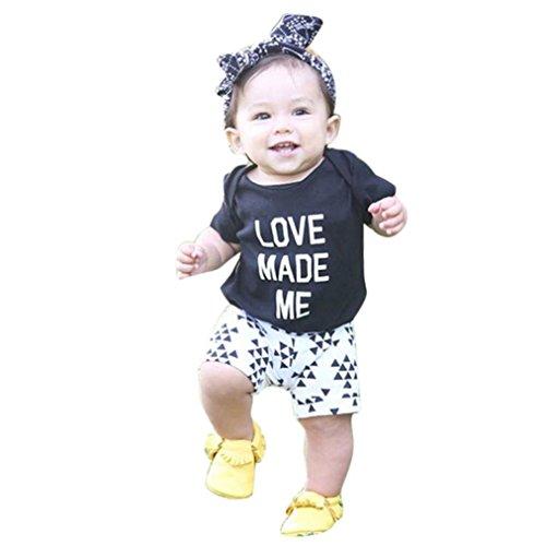 [해외]Botrong면 혼합 된 유아 어린이 아기 소녀 복장 편지 인쇄 T- 셔츠 + 짧은 바지 1Set/Botrong Cotton Blended Toddler Kids Baby Girls Outfit Clothes Lett