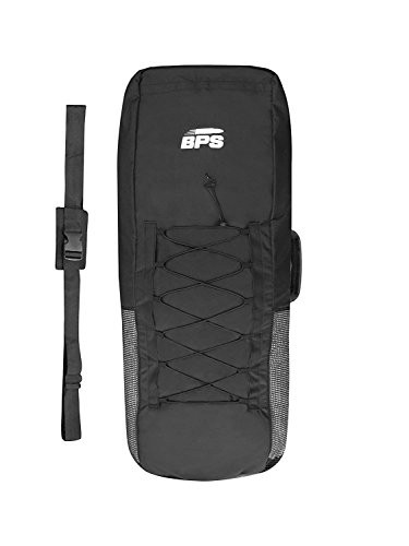 BPS 'Premium Universal Inflatable Stand Up Paddle/iSUP Bag - Easy Carry Backpack - Includes Roll Strap Built-in Paddle Storage (Black, with Rear Mesh)