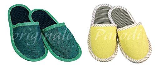 chaussons unisexe d'ajustement 40-41, chaussons hommes, chaussons de femmes, chaussons des femmes, des chaussons en tissu mesure 40/41 Diverses couleurs disponibles Parodi & Parodi 1880