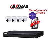 Dahua Branded 4CH IP Package: NVR42A04 w/1TB HDD + (4) 3MP HDW13A0SN IR 3.6MM Eyeball