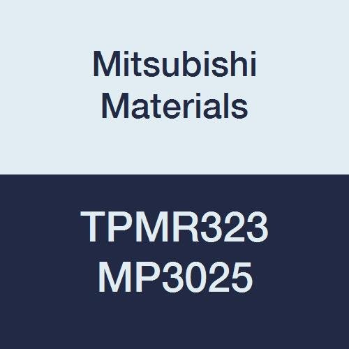 Mitsubishi Materials TPMR323 MP3025 Cermet TP TYPE Turning Insert without Hole, Coated, Triangular, Grade MP3025, 0.375