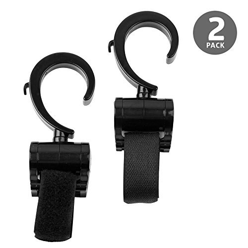 Deblan Stroller Hook, 2 Multi-Purpose Heavy Duty Accessory Hanger for Bags - Ideal for Mommy On The Go, Fits All Strollers