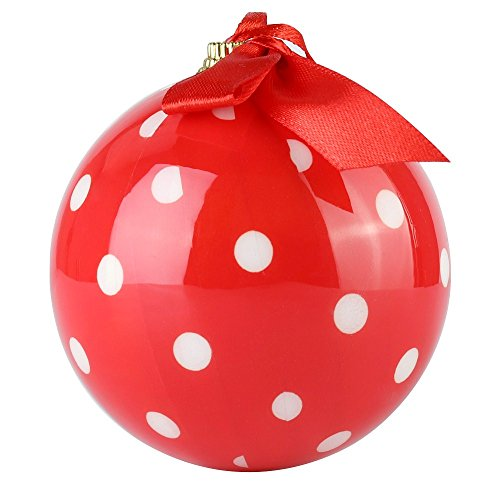 Cue Cue Festive Ready to Hang 24 Peice Red with White Polka Dots Ornament Set by Cue Cue (Image #4)