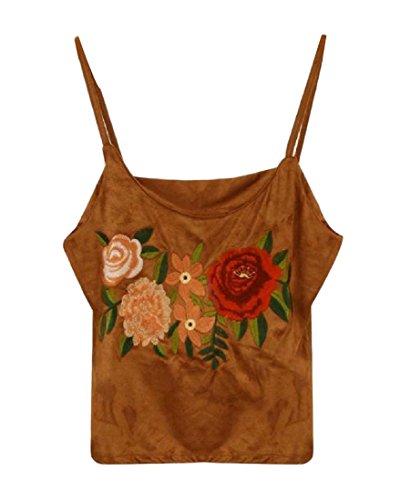 喜び厳密に哺乳類Tootess 女性のファッション?スリング居心地の良いセクシータンクトップシャツ刺繍ベスト