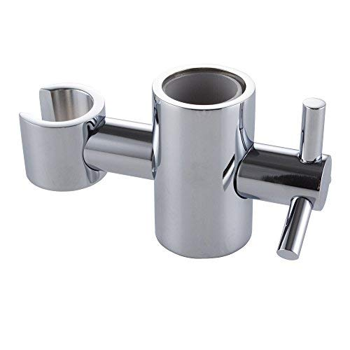 - KES Solid Brass Replacement 25mm Hand Held Shower Bracket for Slider Height & Angle Adjustable Sprayer Holder on Slide Bar, Chrome, PB5
